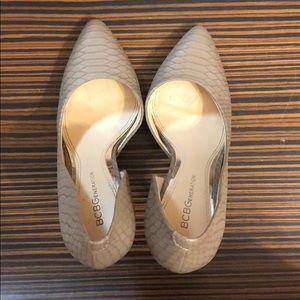 BCBGeneration Tan Heels Size 6